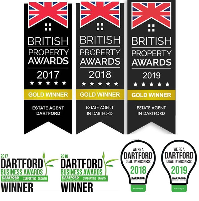 Gold for Best Estate Agent in Dartford